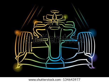 Formula 1 Car Vector Illustration - EPS 10 (Transparency effects used) - stock vector