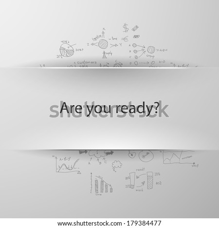 formula concept: Are you ready? - stock vector