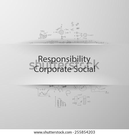 formula concept: corporate social responsibility - stock vector