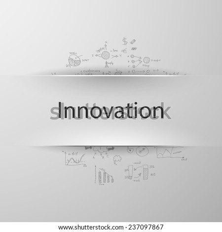 formula concept: innovation - stock vector