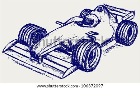 Formula 1 race - stock vector