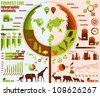 Forrest live, tree info graphics elements. - stock vector