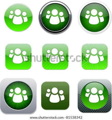 Forum Set of apps icons. Vector illustration. - stock vector