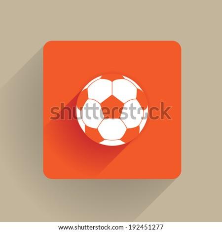 Fotball ball in a flat style - stock vector