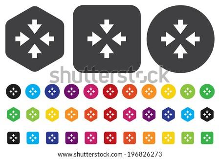 four arrows button - stock vector