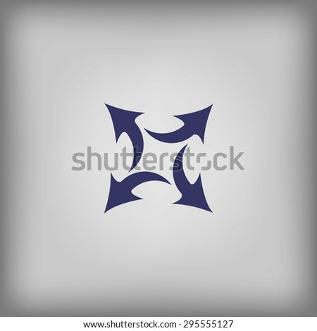 four arrows in different directions  - stock vector
