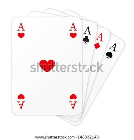 Four cards on white background - stock vector