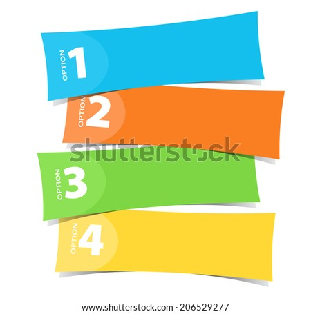 Four color banner template illustration - stock vector