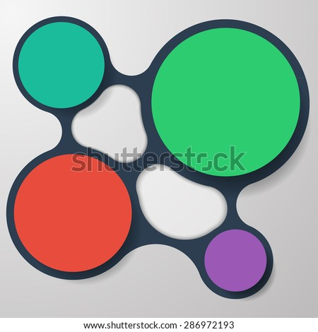 Four Colourful Infographic Circles Background - stock vector