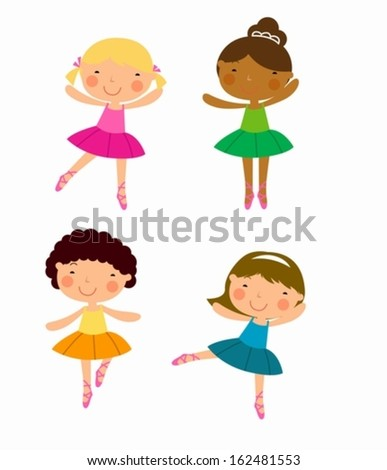 Four dancer - stock vector