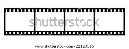 Four Film Strips (With Holes) - stock vector