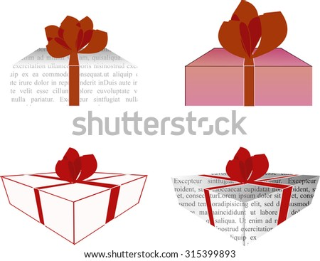 Four gift boxes. Vector illustration - stock vector