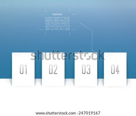 Four Isolated Vector Minimal Objects - stock vector