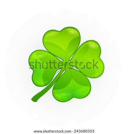 Four leaf clover. Vector illustration for St. Patrick's day  - stock vector