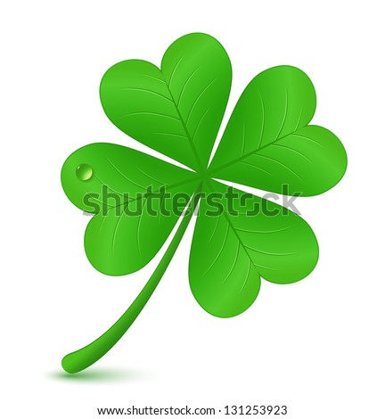 Four leaf clover. Vector illustration. St. Patrick's day symbol - stock vector