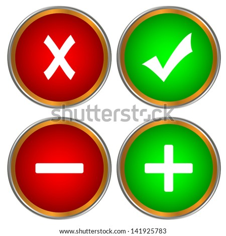 Four new icons for all web pages - stock vector