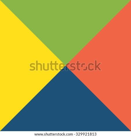 Four-Sides Vintage Background - stock vector