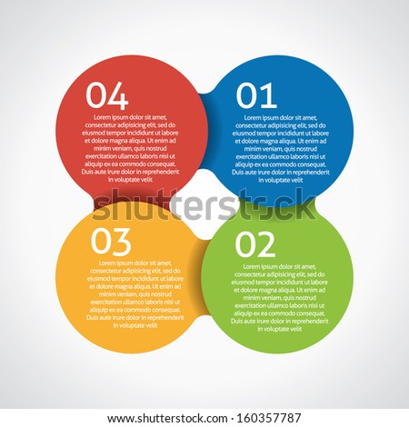 Four steps process - design element. Vector.  - stock vector
