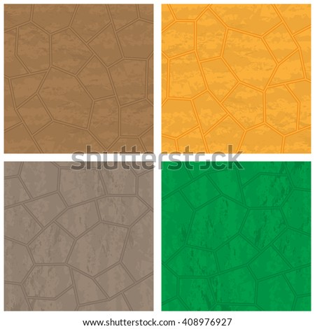 Four stone backrounds different colors