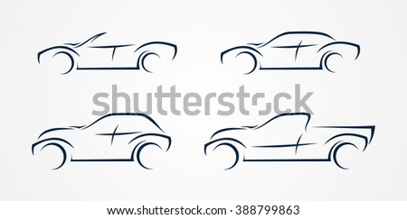 Four vector vehicle - stock vector