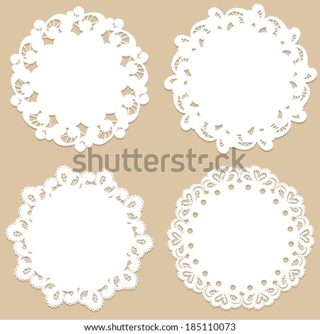 Four vintage round frames. Vector illustration - stock vector
