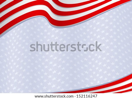 Fourth of July background - stock vector