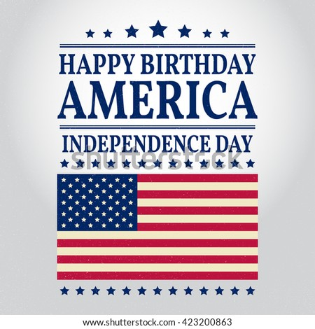 Fourth of July. Independence day greeting card, poster, flyer. Patriotic banner for website template. July 4th typographic design. Vector illustration. - stock vector