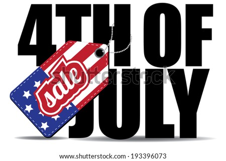 Fourth of July sale icon EPS 10 vector.  - stock vector