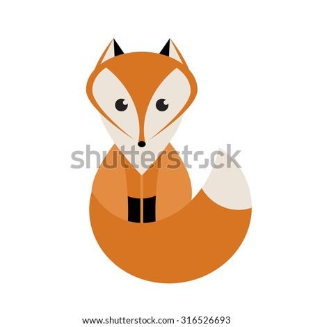 Fox - stock vector