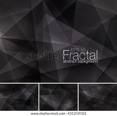 Fractal abstract background series - stock vector