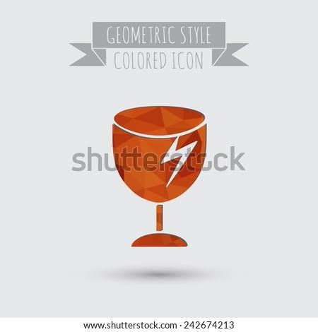 Fragile glass symbol. Logistics icon - stock vector