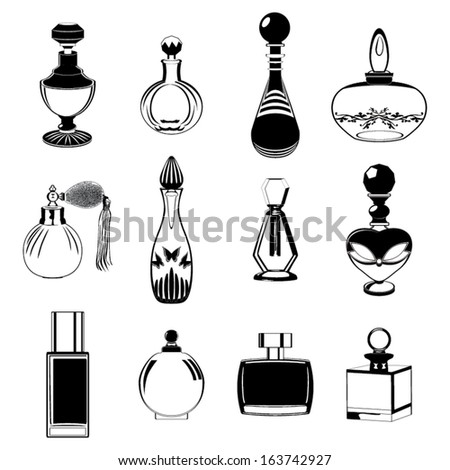 Fragrance bottles vector collection - stock vector