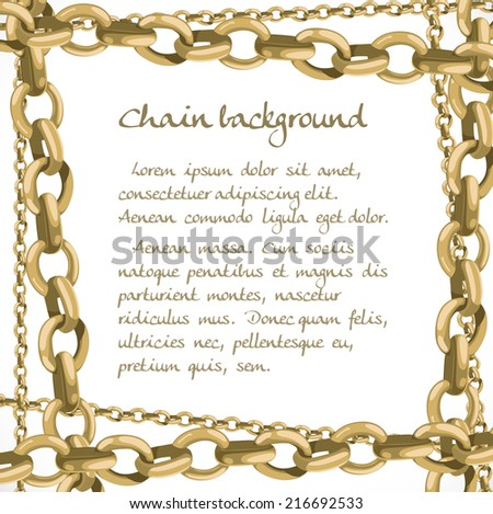 Frame from large and small chain - stock vector