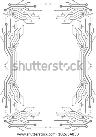 Frame in PCB-layout style - stock vector