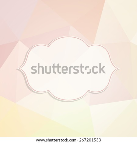 Frame in retro style on a triangle background. Vector illustration. Eps 10 - stock vector