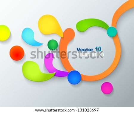 frame made of colorful drops and circles - stock vector