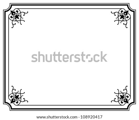 Frame Magasin 3 - stock vector