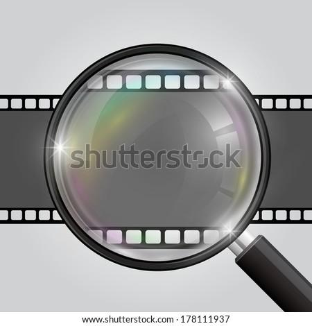Frame magnifier. Vector - stock vector