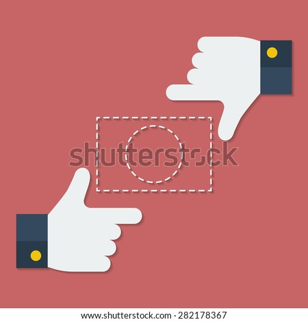 Frame of fingers or hands. Flat style - stock vector
