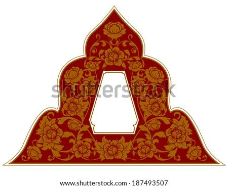 Frame of Thai ancient art vector - stock vector