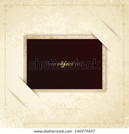 frame old vintage photo - stock vector
