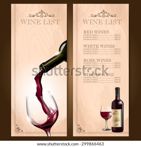 frame red wine - stock vector
