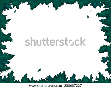 Frame. vegetal. vector - stock vector