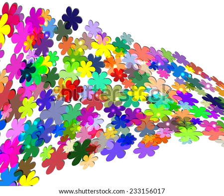 frame with colors flowers. Background for your text - stock vector