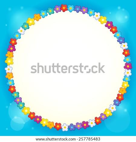 Frame with flower theme 4 - eps10 vector illustration. - stock vector
