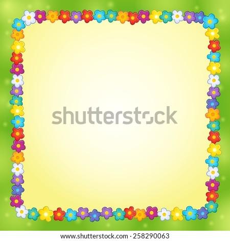 Frame with flower theme 7 - eps10 vector illustration. - stock vector