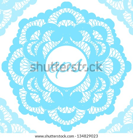 frame with lace - stock vector