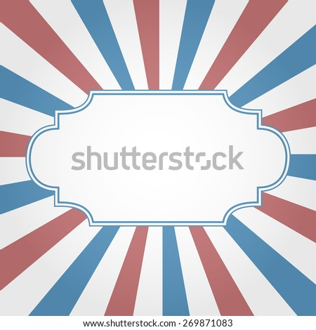 Frame with stripes for invitation - stock vector