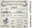 Frames, borders, dividers, corners, bars and swirls. Vector set of calligraphic text ornamental and decor design elements for your layout. - stock vector