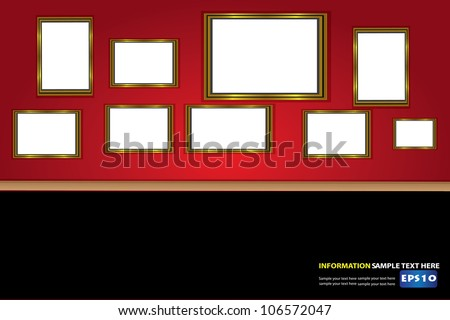 Frames for picture ,Vector - stock vector